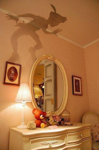 For the Home / Peter Pan outline, cut out and put on top of lamp shade :)