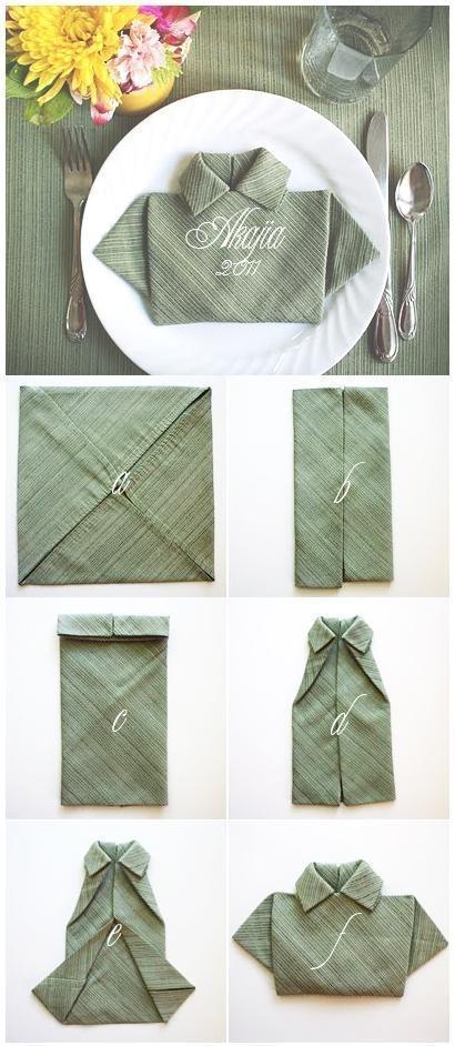 DIY Shirt Napkin Fold DIY Projects | UsefulDIY.com