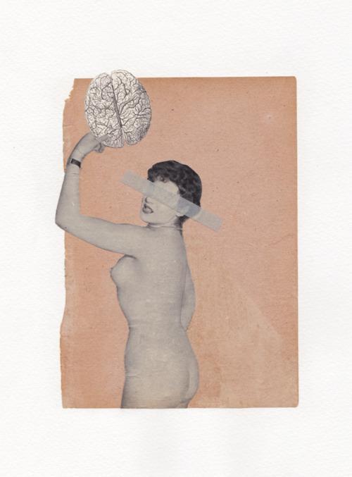 Gaëlle Faure - Sans titre. Les érotiques Collages sur papier -...