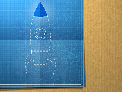 Rocket Blueprint by Paddy Donnelly