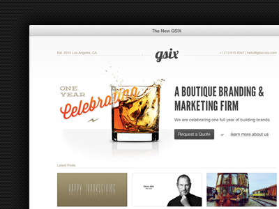 New Site! gsixcorp.com by David Silva