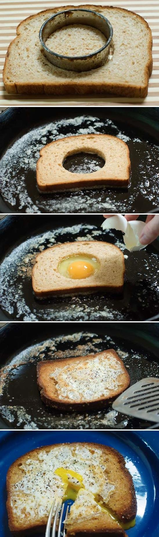 Egg In A Hole Food Pix | Recipe by Picture #253870 on Wookmark