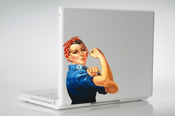Rosie the Riveter laptop or wall vinyl decal by RebelGraphX