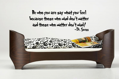 Dr. Seuss Quote 'Be Who You Are' Vinyl Wall Decal | InitialYou - Housewares on ArtFire
