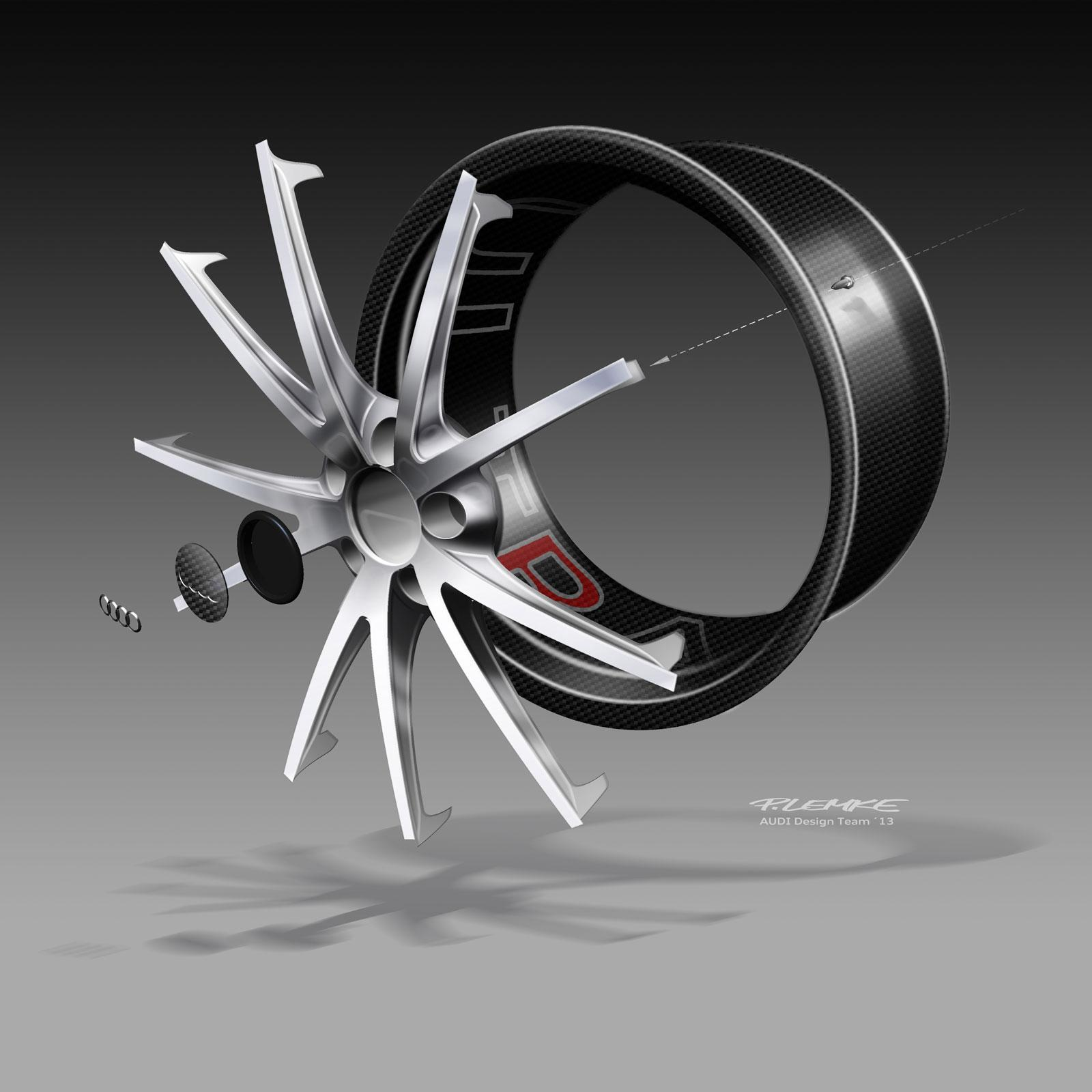 Audi Tt Ultra Quattro Concept Wheel Exploded Design