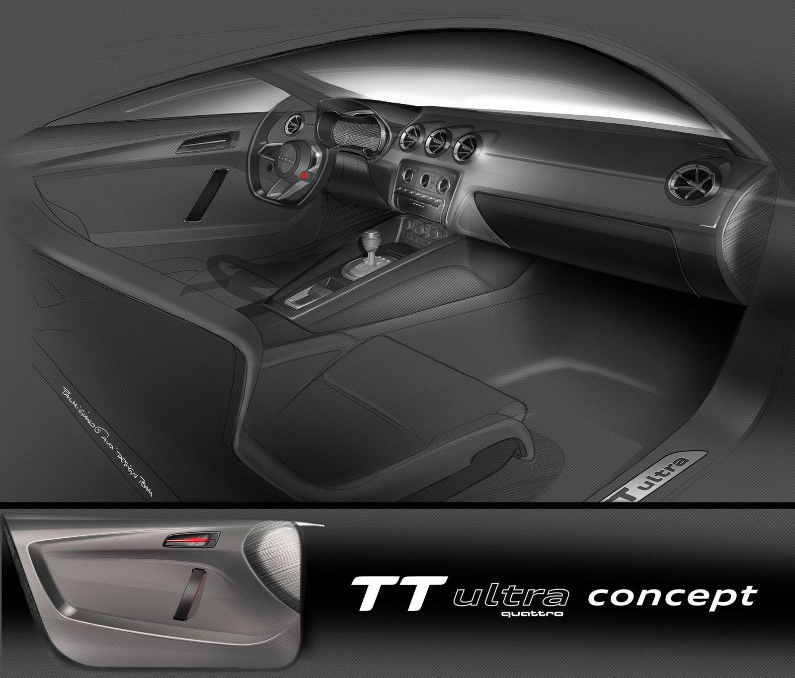 Audi Tt Ultra Quattro Concept Interior Design Sketch