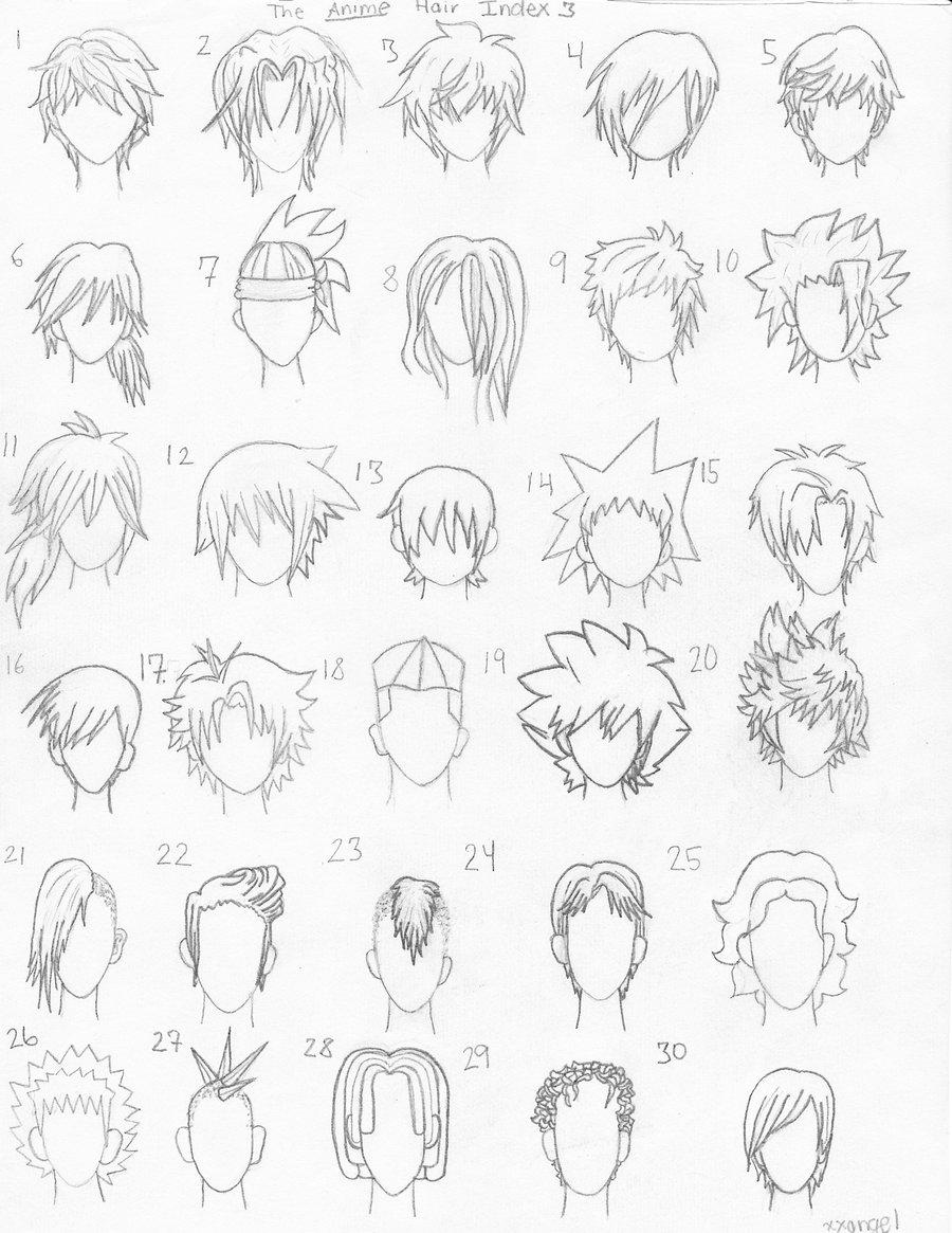 The Anime Hair Index 3 by ~xxangelsilencex