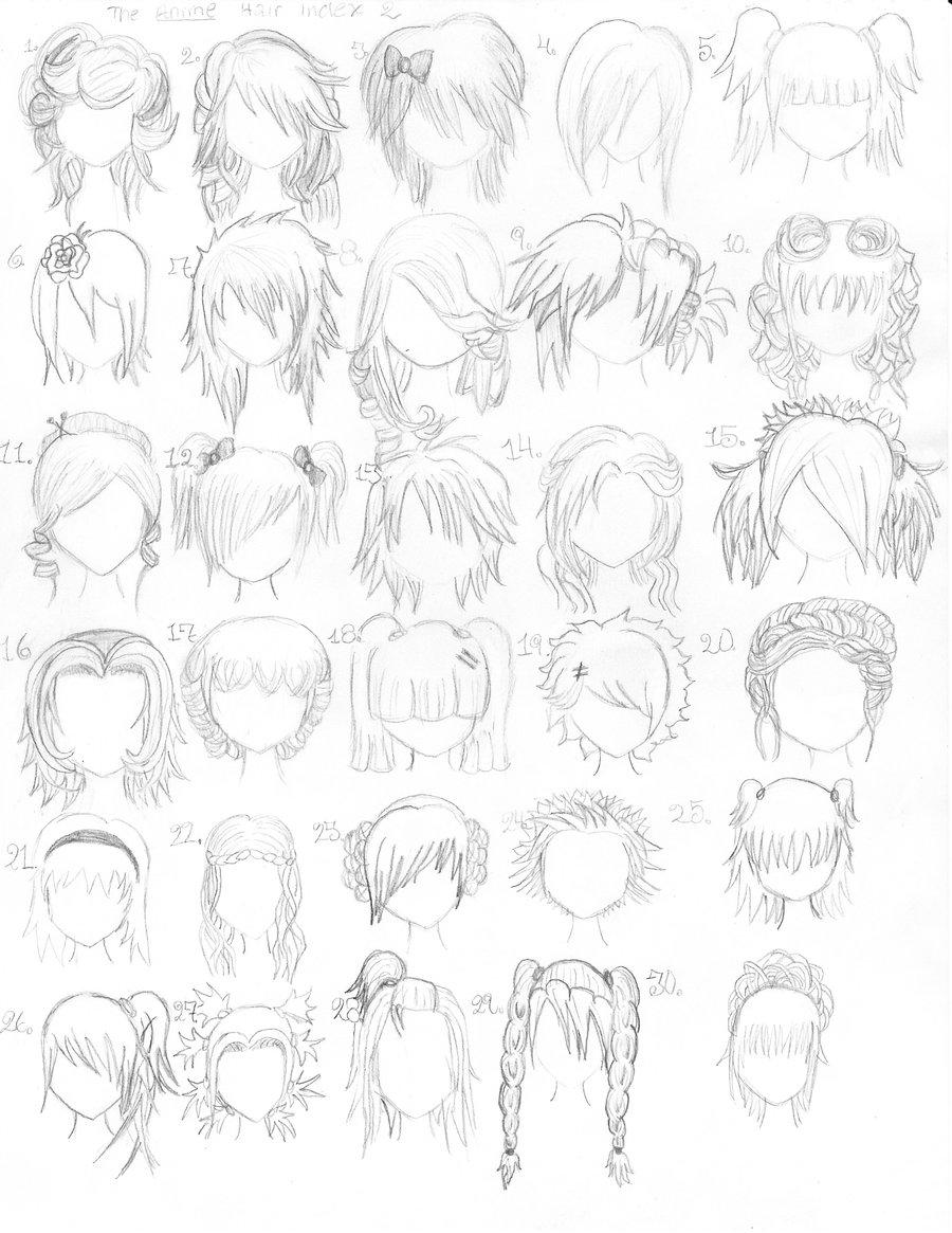 The Anime Hair Index 2 by ~xxangelsilencex