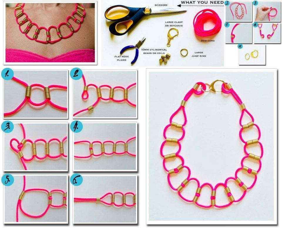 Diy neon paracord necklace diy projects for New handmade craft ideas