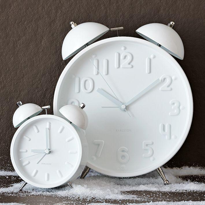 Ceramic White Alarm Clocks | west elm