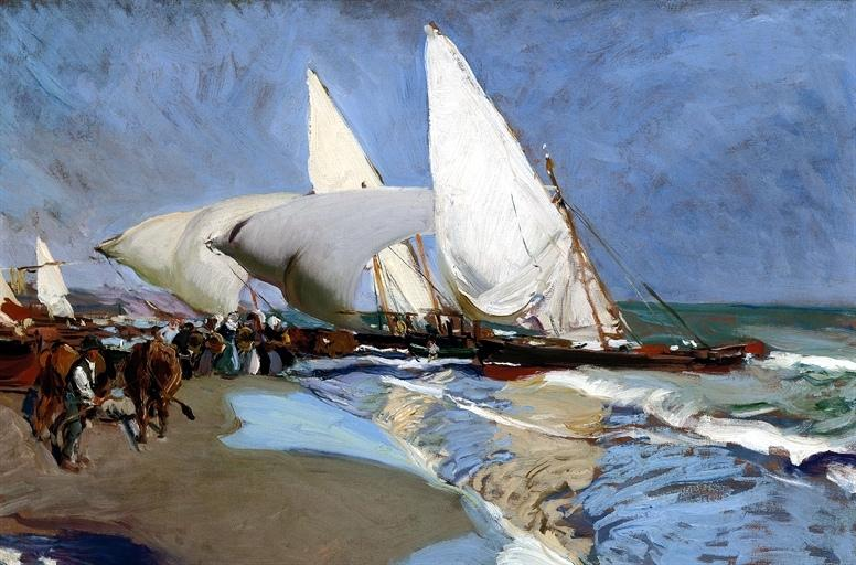 Sorolla y Bastida, Joaquin (1863-1923) - 1908 The Beach at Valencia (Christie's London, 2008)   Flickr - Photo Sharing!