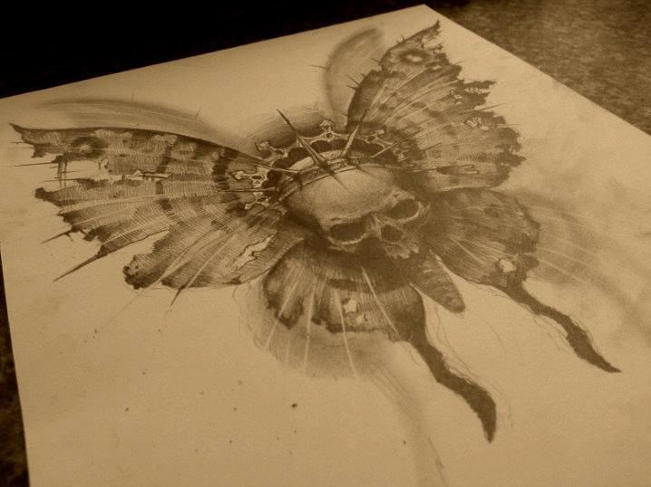 skull butterfly by ~AndreySkull