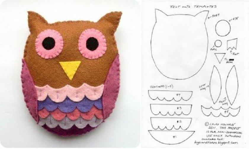 DIY Little Felt Owl Template DIY Projects | UsefulDIY.com ...