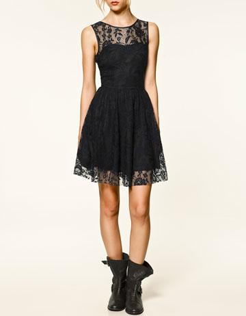 LACE DRESS - Dresses - TRF - New Collection - ZARA Poland