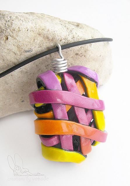 Полимерная глина - Изделие-Полые кулоны и кулоны под вдохновение огня