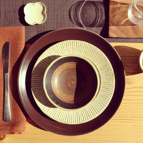 Heath Ceramics, Sunny place setting Heath + Akio (at Heath...