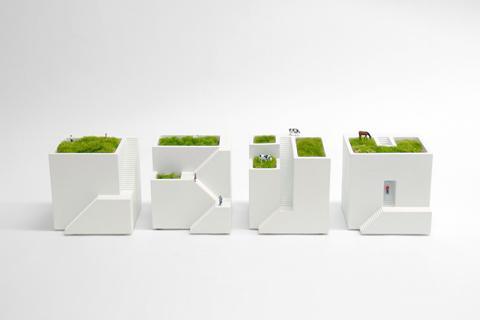 Desktop gardening | ienami is a house shaped planter for your desk | Spoon & Tamago
