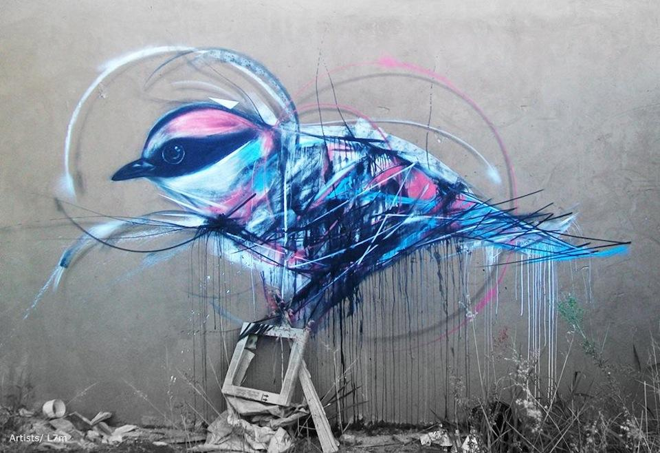 Graffiti Birds by Brazilian Artist L7M | inspirationfeed.com