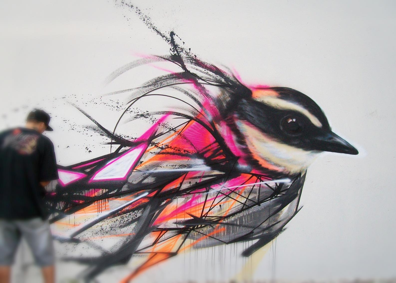 Graffiti Birds by Brazilian Artist L7M | inspirationfeed.com