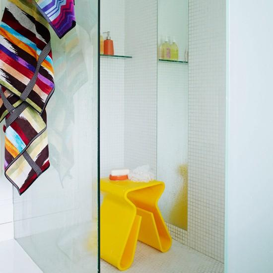 Opt for colourful accessories | How to add colour to a bathroom - 10 easy ideas | housetohome.co.uk