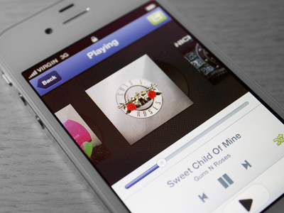 Music App UI by I'm Charlie - TheIssland