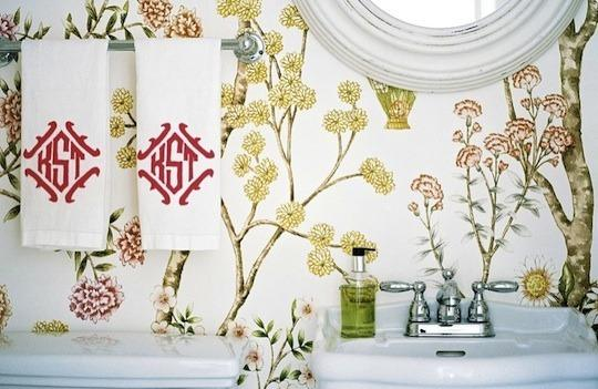 Floral Wallpaper in the Bathroom | Apartment Therapy