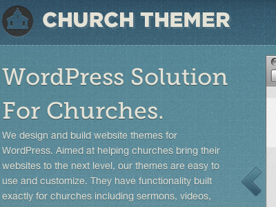 Church Themer Launched. by Adam Pickering