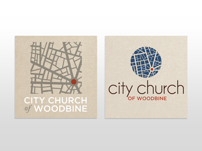 church logo concepts by Beth Mathews