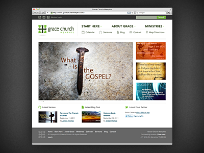 Grace Church Website by Aaron Boeving