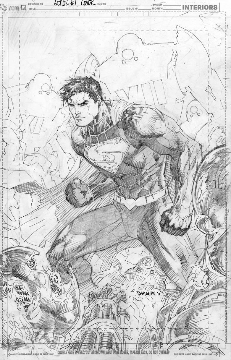 Action Comics #1//Jim Lee/L/ Comic Art Community GALLERY OF COMIC ART