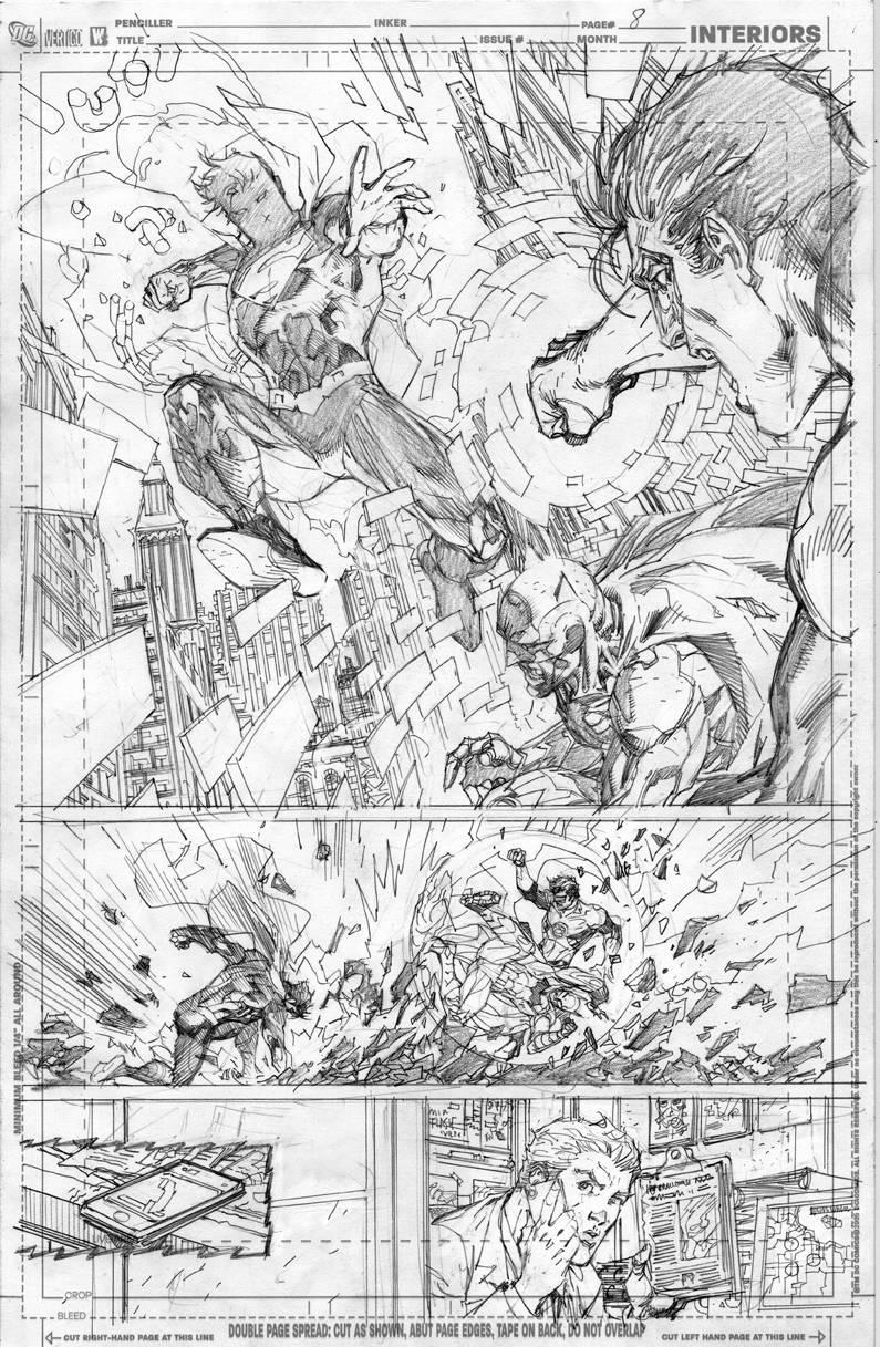 Justice League #2 pg 8//Jim Lee/L/ Comic Art Community GALLERY OF COMIC ART