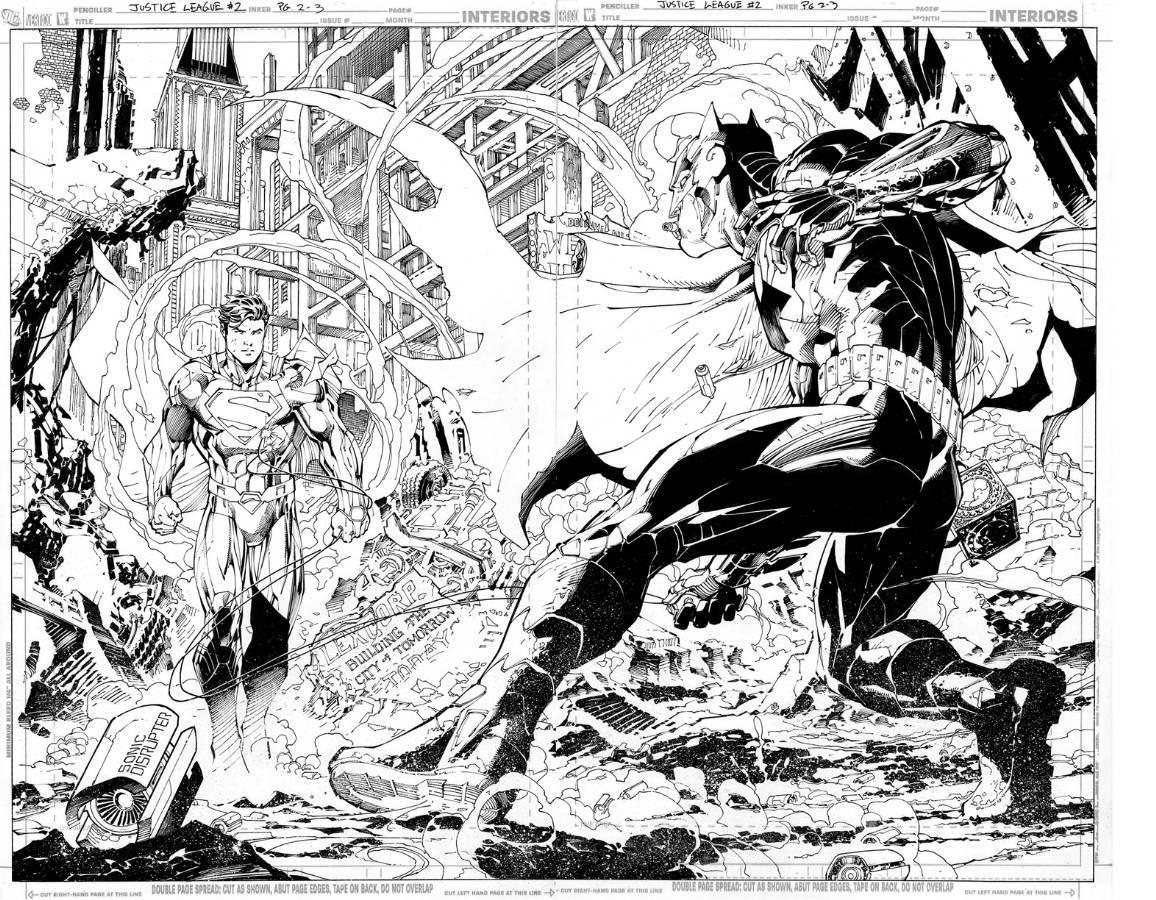 Justice League #2 Page 2-3//Jim Lee/L/ Comic Art Community GALLERY OF COMIC ART