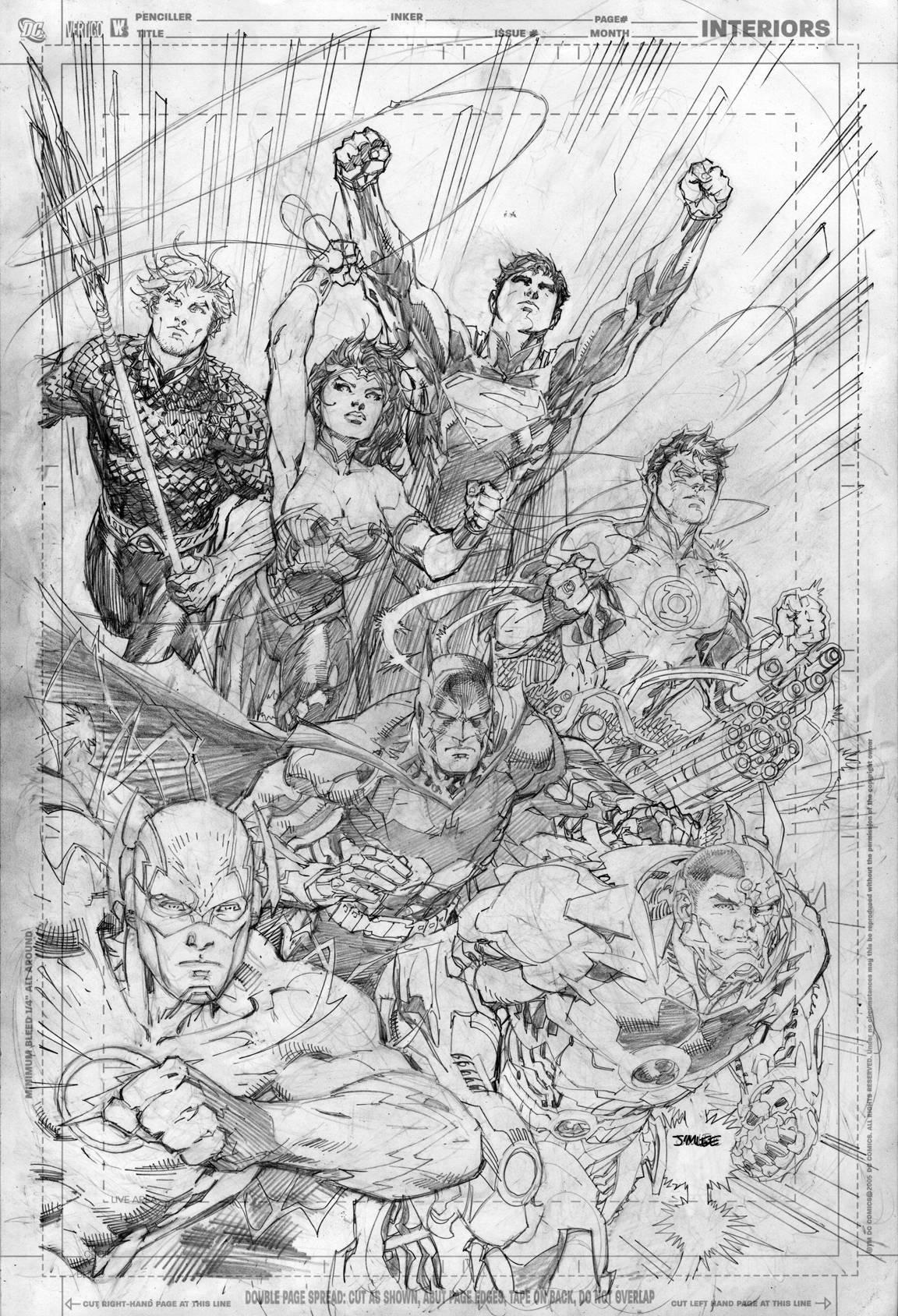 Justice League #1//Jim Lee/L/ Comic Art Community GALLERY OF COMIC ART