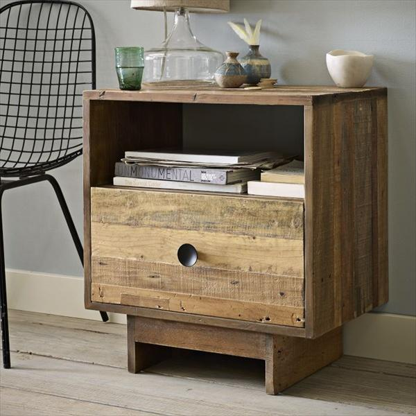 Pallet nightstand do it yourself pallets wooden pallet for Diy pallet tv stand instructions