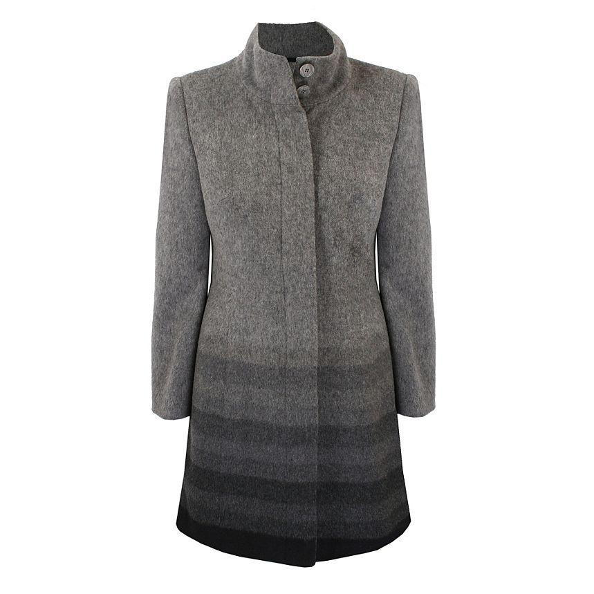 Petite Grey Multi Stripe Wool Coat - Petite - Coats & jackets - Women -
