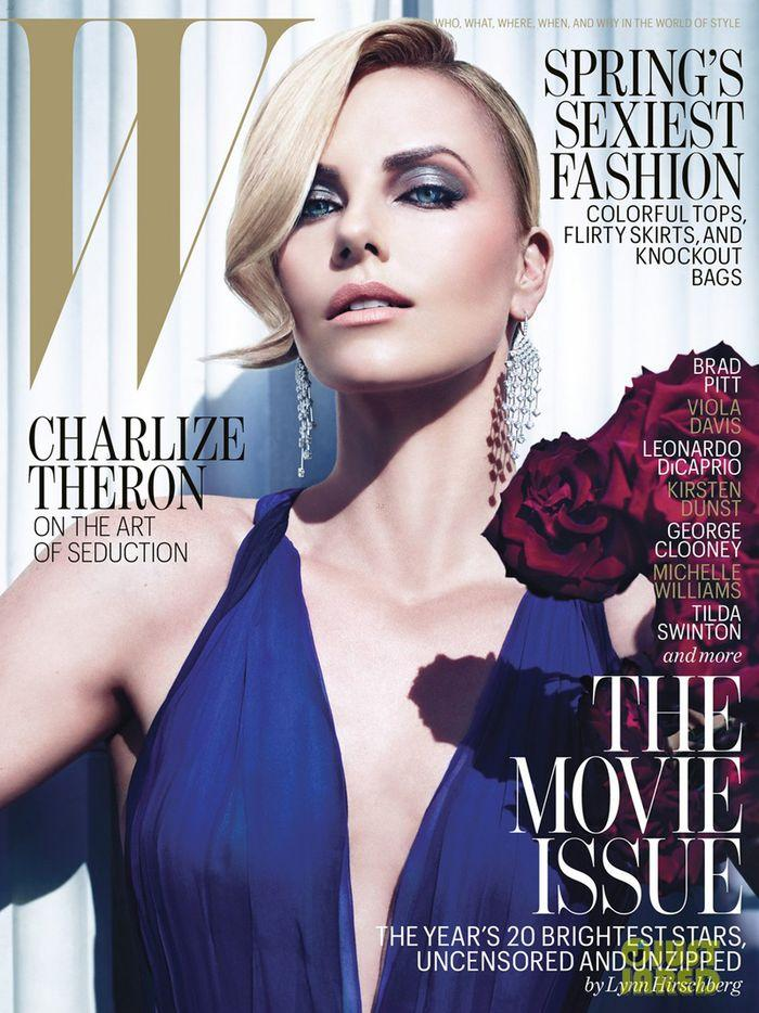 Charlize Theron for W February 2012 by Mario Sorrenti - Fashion Copious