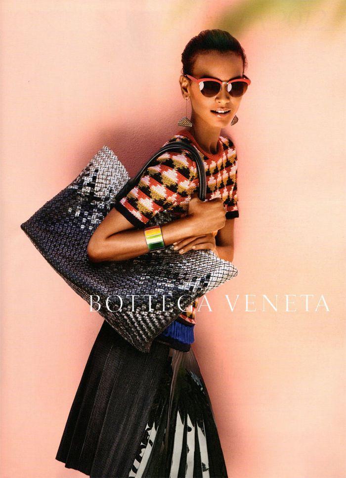 Bottega Veneta Spring 2012 Campaign Liya Kebede by Jack Pierson - Fashion Copious