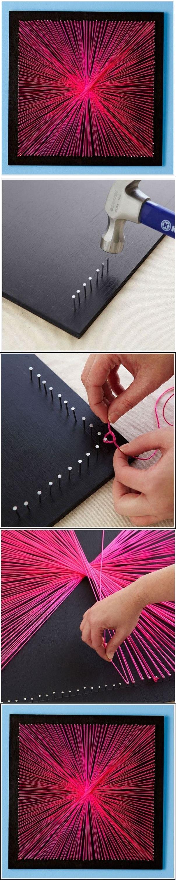 DIY String Art DIY Projects | UsefulDIY.com