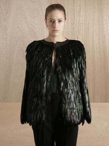 Maison Martin Margiela 01 Women's Feather Cape | LN-CC