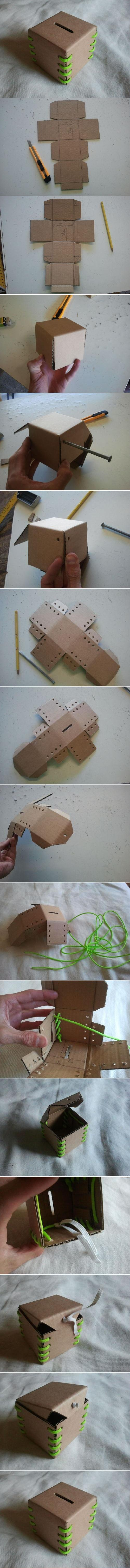 DIY Cardboard Piggy Bank DIY Projects | UsefulDIY.com