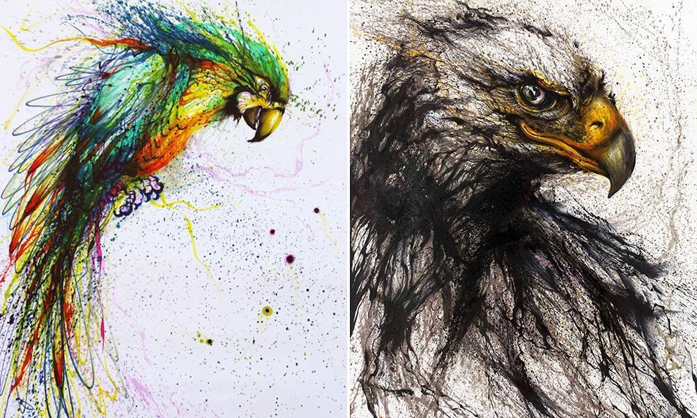 A arte colorida e explosiva de Hua Tunan
