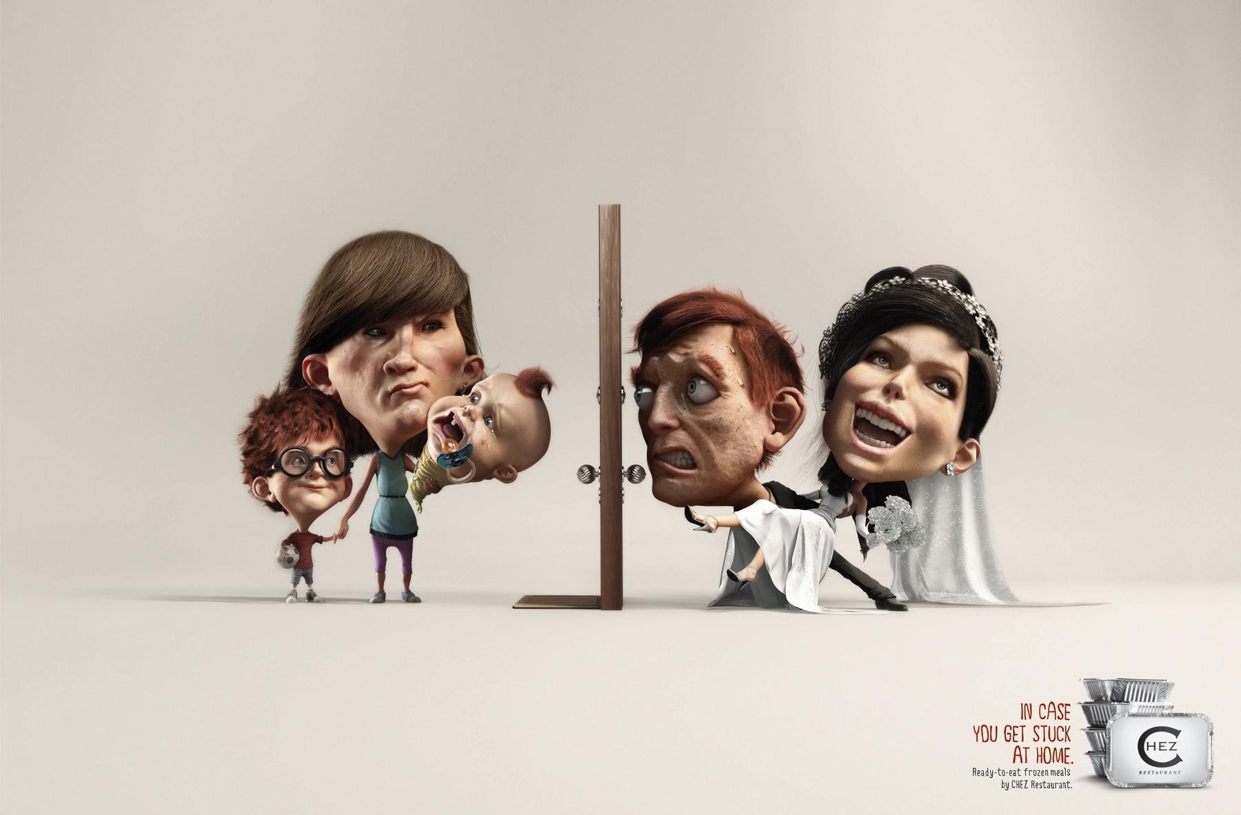Chez Restaurant: Ex vs Bride | Ads of the World™ #273485 on Wookmark
