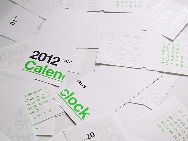 Antalis Calenclock 2012 by Ken Lo | inspirationfeed.com