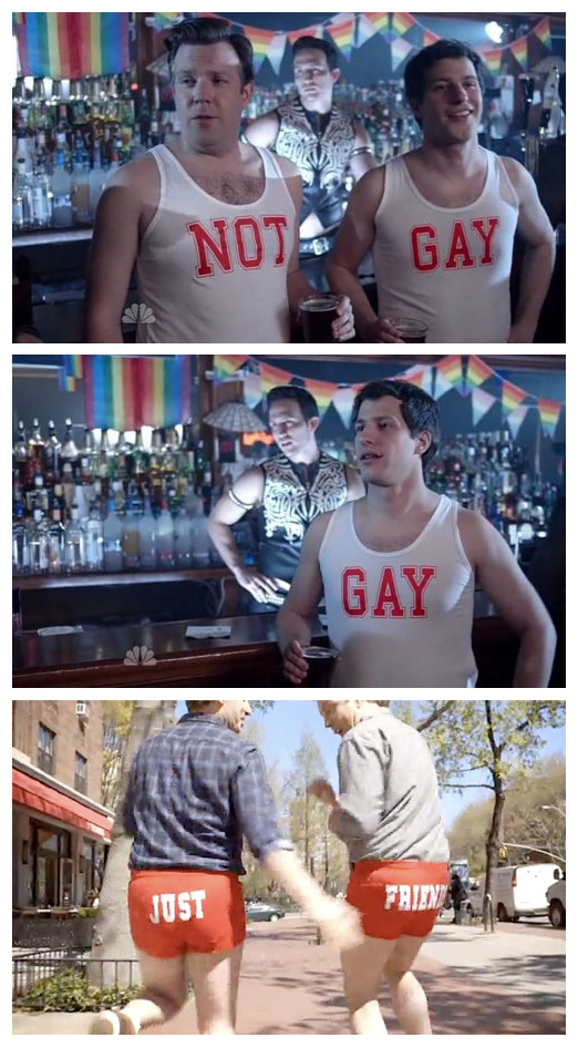 Not Gay Tank Tops Jason Sudeikis and Andy Samberg
