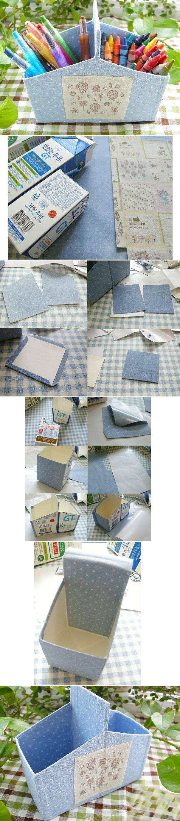 DIY Milk Carton Organizer DIY Projects | UsefulDIY.com