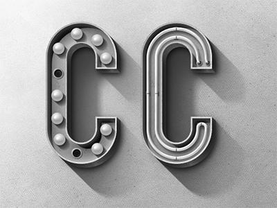 Designspiration — Dribbble - Vintage C by Matthew Daniels
