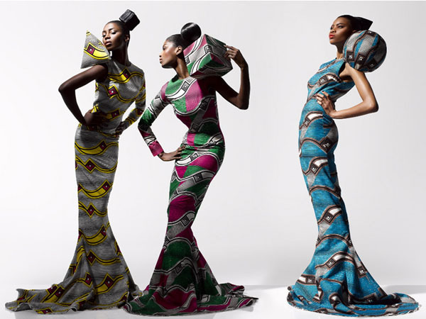 Vlisco Dazzling Graphics on Fashion Served