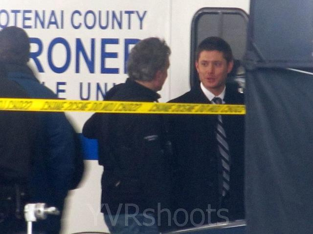 Jensen Ackles of People's Choice Best TV Drama Supernatural Filming in Richards Parkade in Snowy Vancouver | Flickr - Photo Sharing!