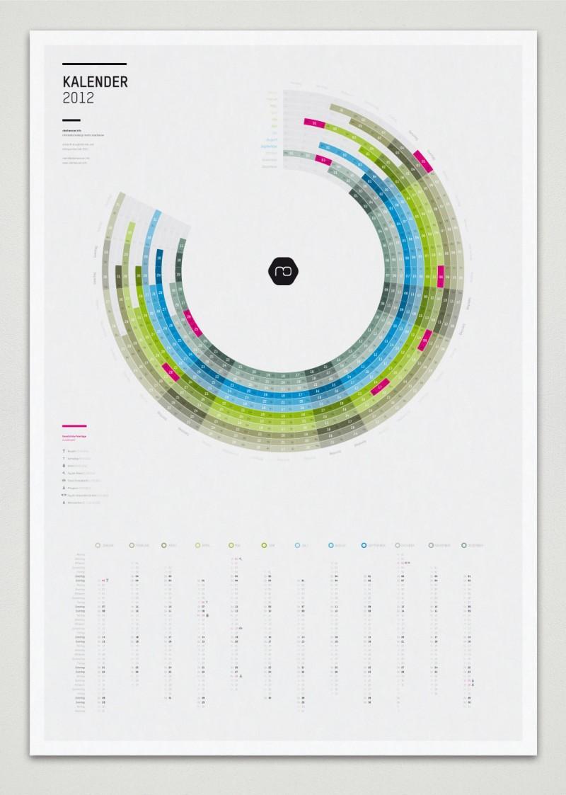 Infografik Kalender 2012