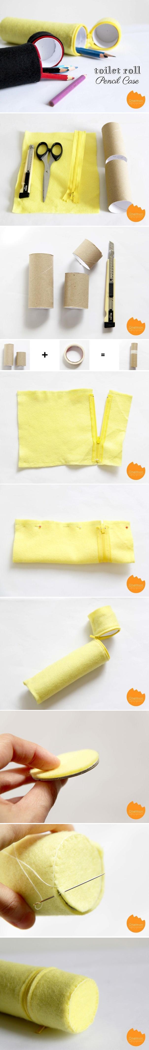 DIY Toilet Roll Pencil Case DIY Projects | UsefulDIY.com